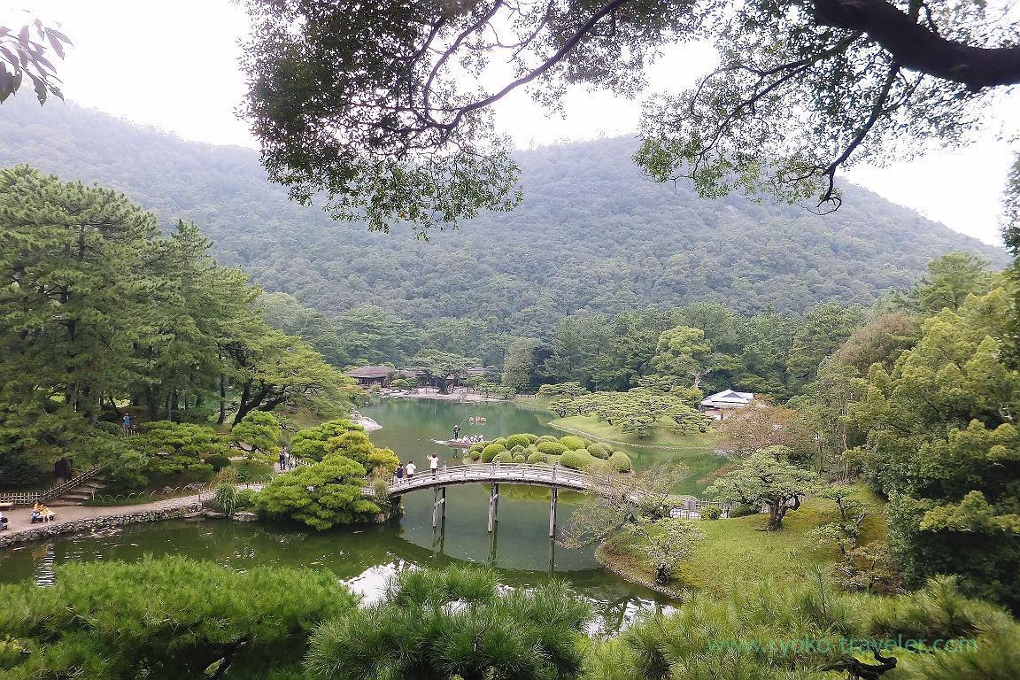 From Hiraiho hill, Ritsurin garden, Udon tour managed by Kotosan bus,(Takamatsu 2015)