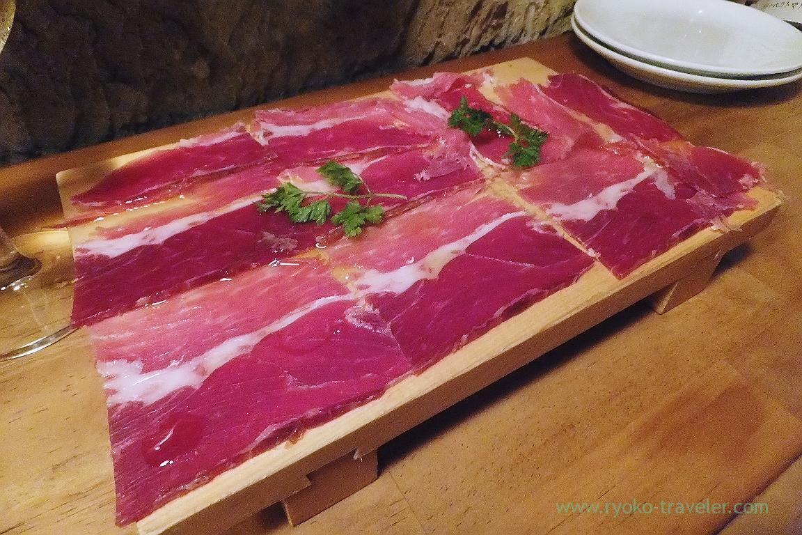Iberico uncured ham, Hachijuro Syoten (Funabashi)