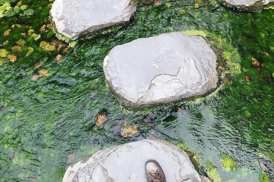 Stones, Ritsurin garden, Udon tour managed by Kotosan bus,(Takamatsu 2015)