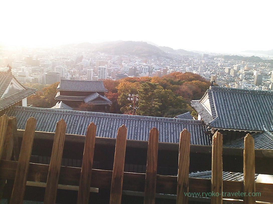 View from the observation platform ,Matsuyama castle, Matsuyama (Ehime 2010)