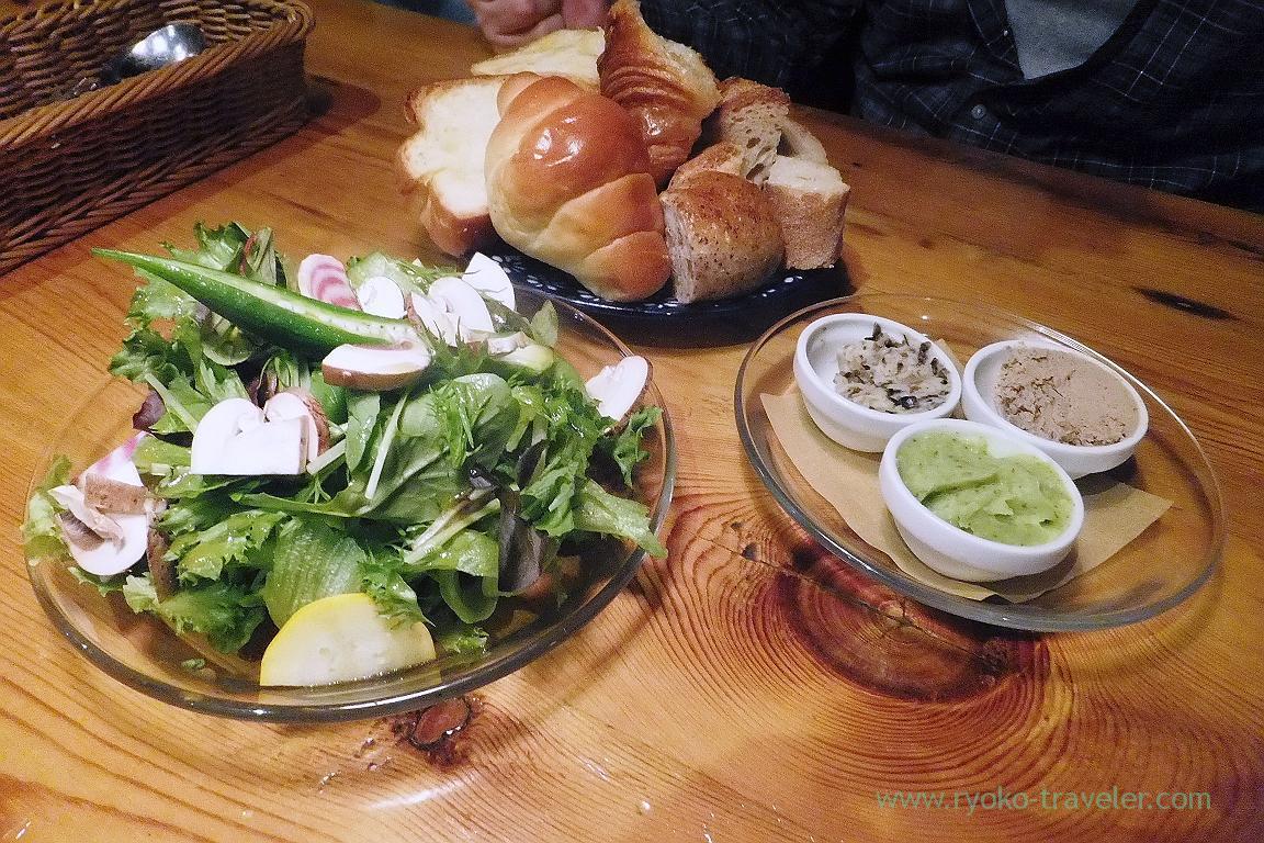 Bread and salad, Ruheplatz Zopf (Kitakogane)
