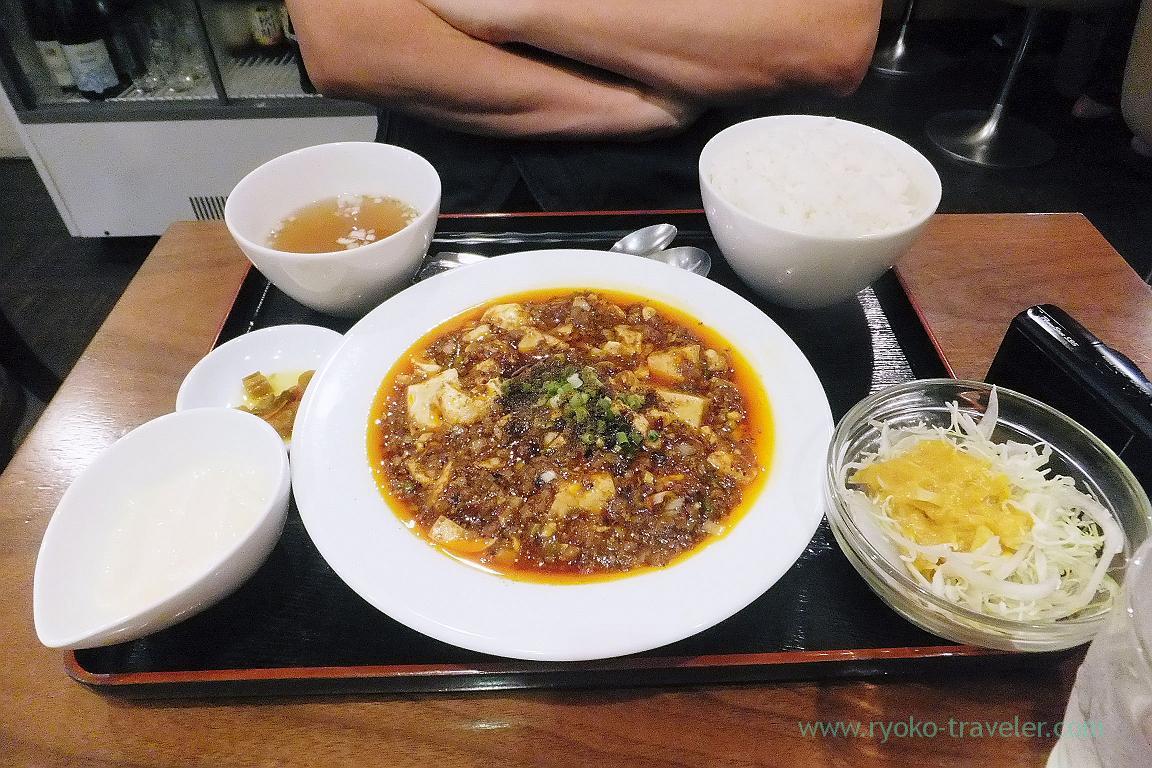 Chen mapo dofu set, Manzan (Makuhari Hongo)
