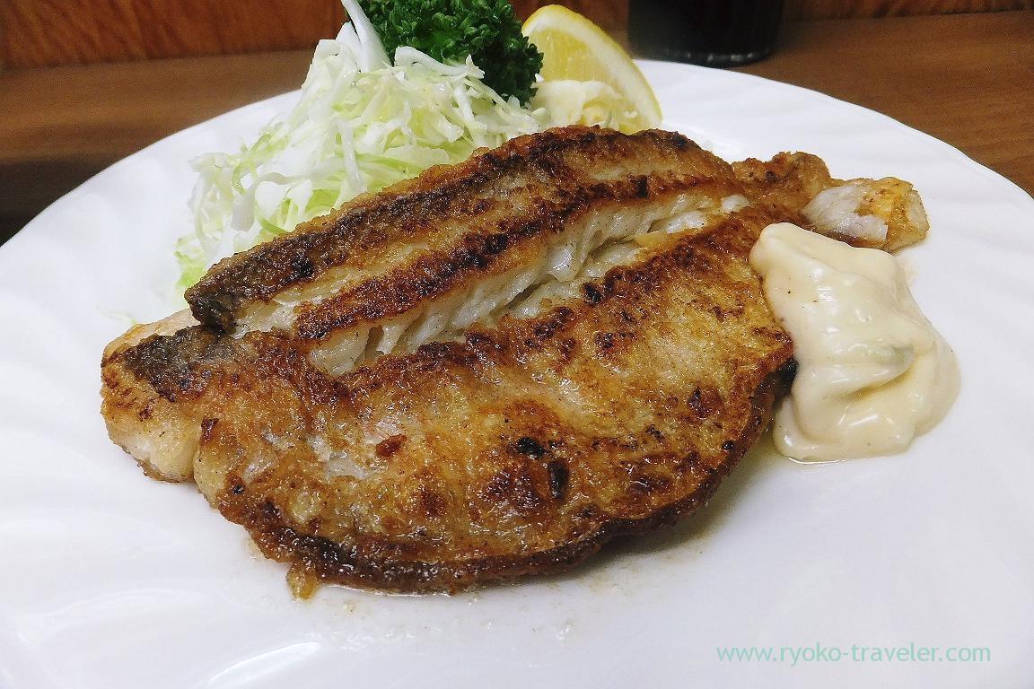 Fried tilefish with butter, Odayasu (Tsukiji Market)