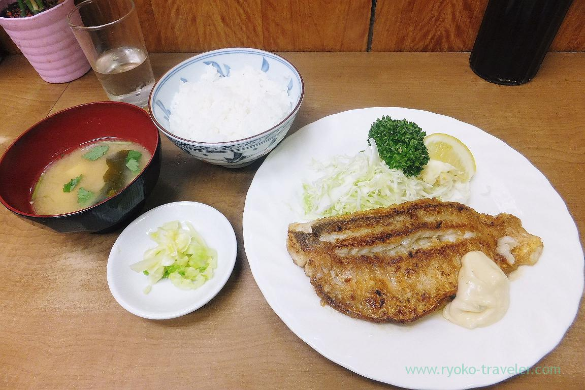 Fried tilefish with butter and rice set, Odayasu (Tsukiji Market)