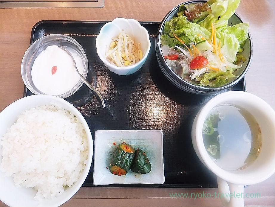 Lunch set, Gyubee Funabashi Seibu branch (Funabashi)