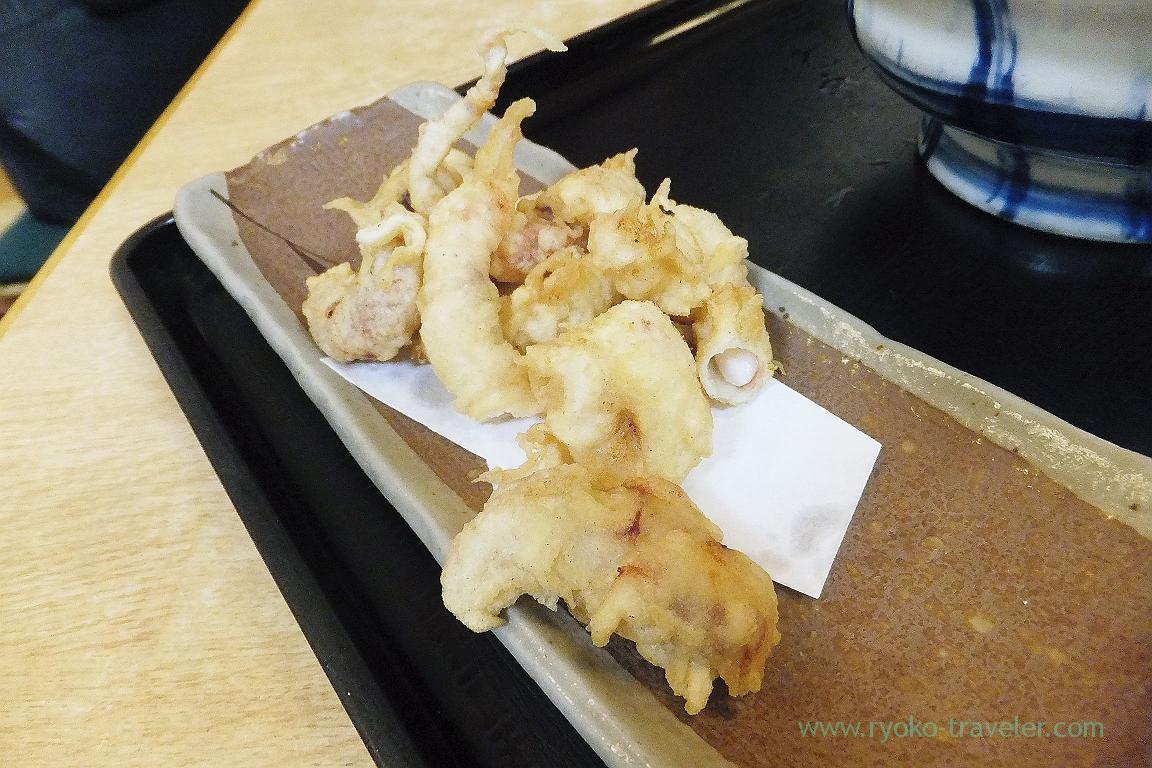 Octopus tempura, Udonbo, Kawaramachi (Takamatsu 2015)