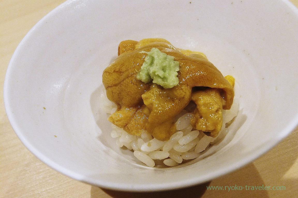 Sea urchin, Sushi Hashimoto (Shintomicho)