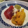 (Moved) Tsukiji Market : Tuna and sea urchin with grated yam at Yonehana