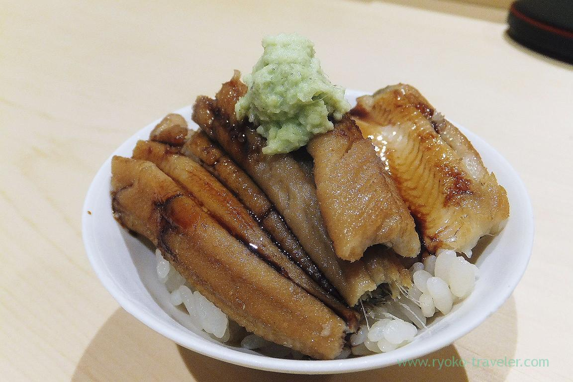 Special small conger eel bowl, Sushi Hashimoto (Shintomicho)