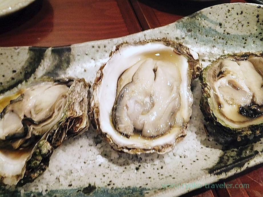 Steamed oysters, Yamadaya (Tsukiji)