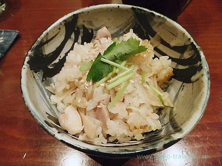 Takikomigohan with fresh ginger and chicken