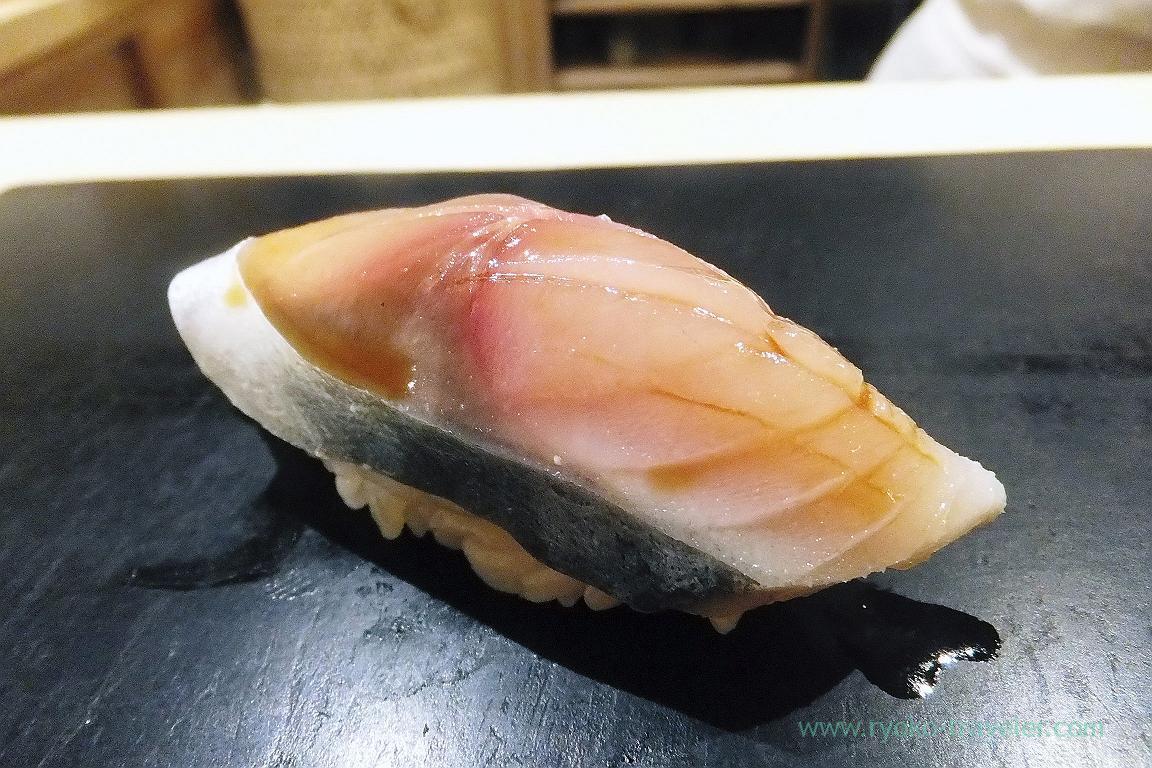 Vinegared mackerel, Sushi Hashimoto (Shintomicho)