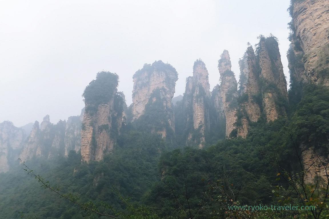 From the bottom, Yuangjiajie ,Zhangjiajie(Zhangjiajie and feng huang 2015)