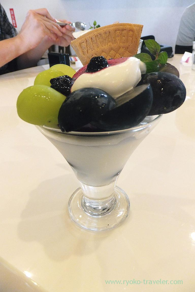 Grape parfait, Fruits cafe Orange (Nagareyama)