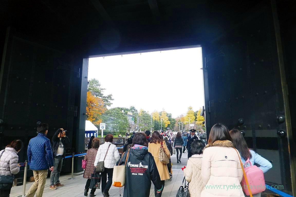 Inui gate for exit, Opening of Inui street in Imperial palace to public 2015 Autumn