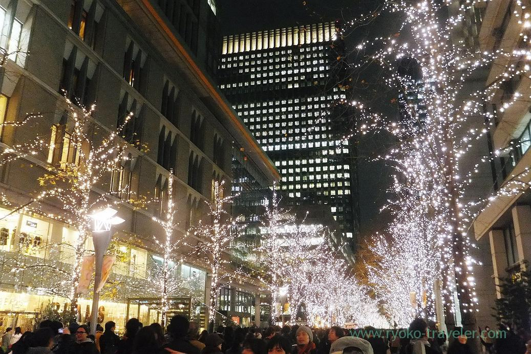 Lightup along the street, Tokyo station (Marunouchi)