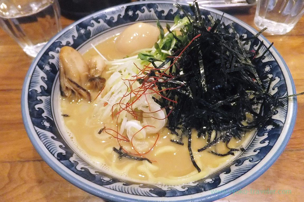 Oysters ramen, Saichi (Kinshicho)
