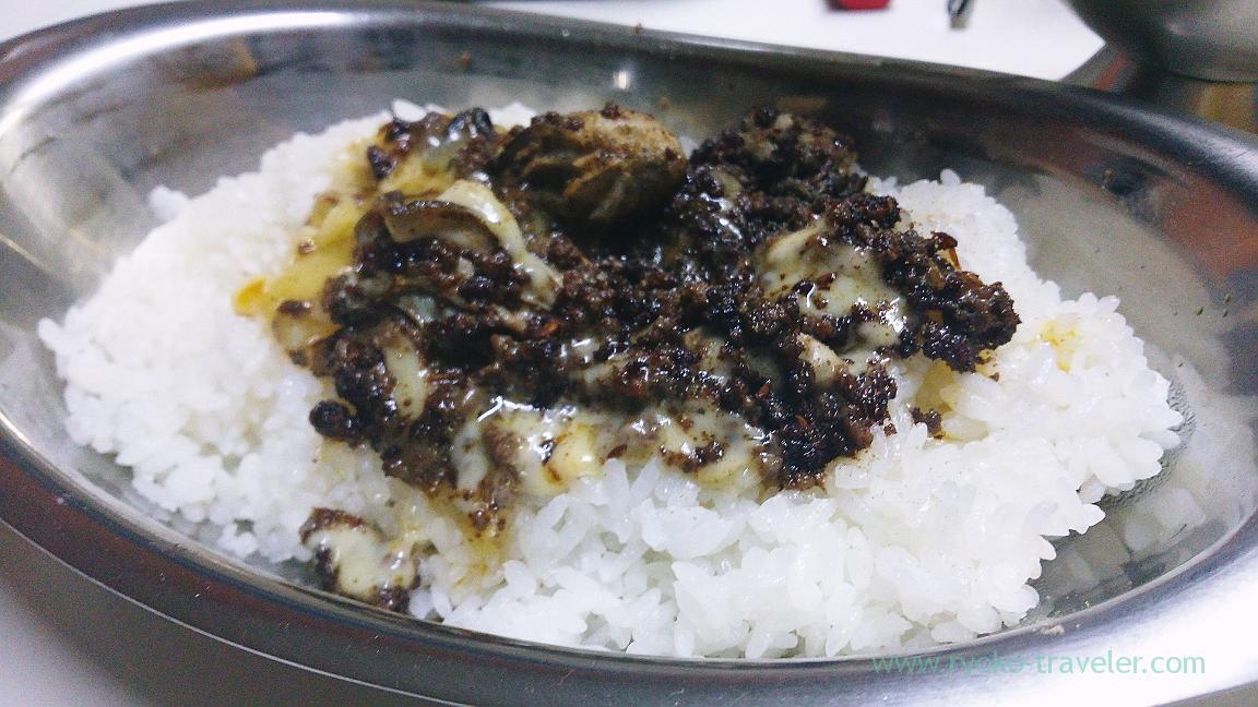 Rice of oyster god, Curry shop udon (Gotanda)