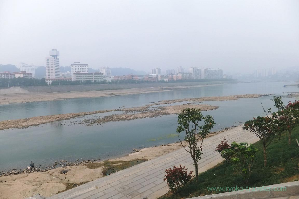 River in front of our hotel, Yichen International hotel,Zhangjiajie(Zhangjiajie and feng huang 2015)