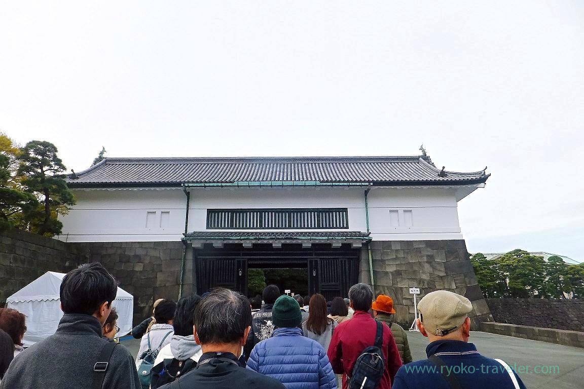 Sakashita-mon gate, Opening of Inui street in Imperial palace to public 2015 Autumn