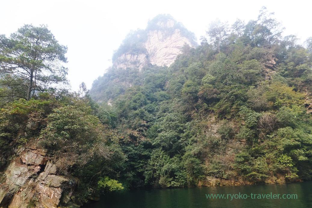 View from the boat 2, Baofeng Lake ,Zhangjiajie(Zhangjiajie and feng huang 2015)