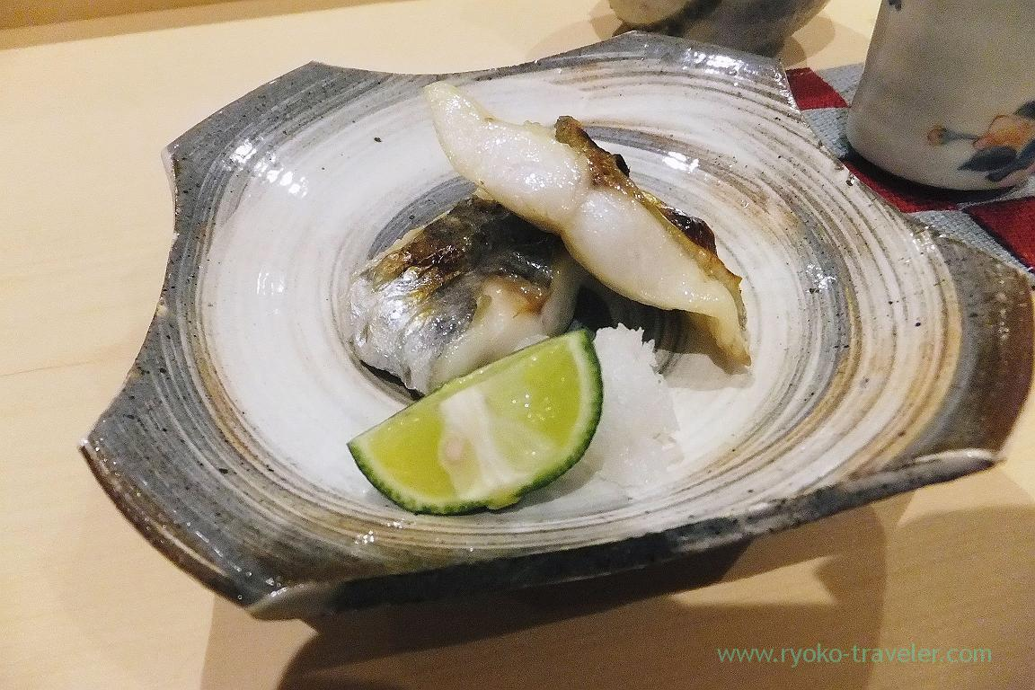 grilled Japanese butterfish, Sushi Hashimoto (Shintomicho)