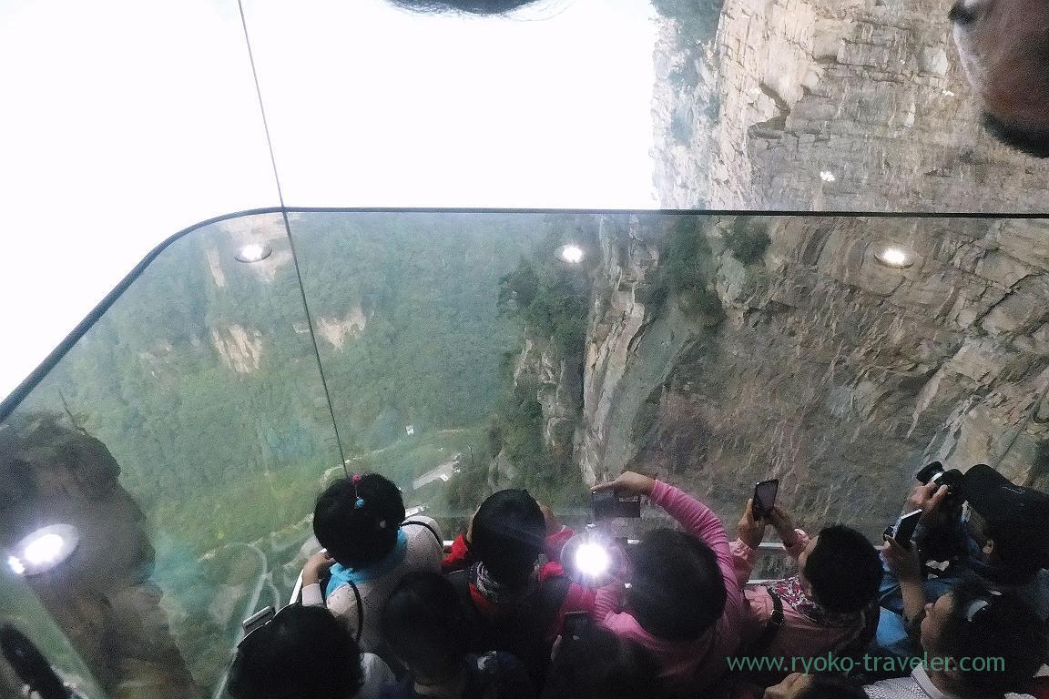inside of Glass elevator, Yuangjiajie ,Zhangjiajie(Zhangjiajie and feng huang 2015)