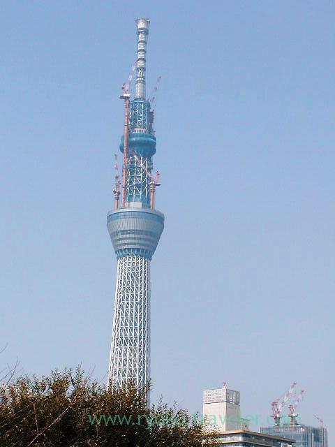 Current Tokyo skytree, Kameidoten Jinja (Kameido)