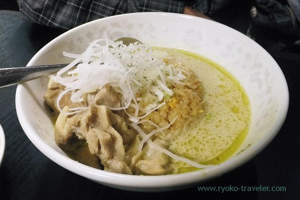 Fried rice with green curry, Yoshiba (Makuhari)