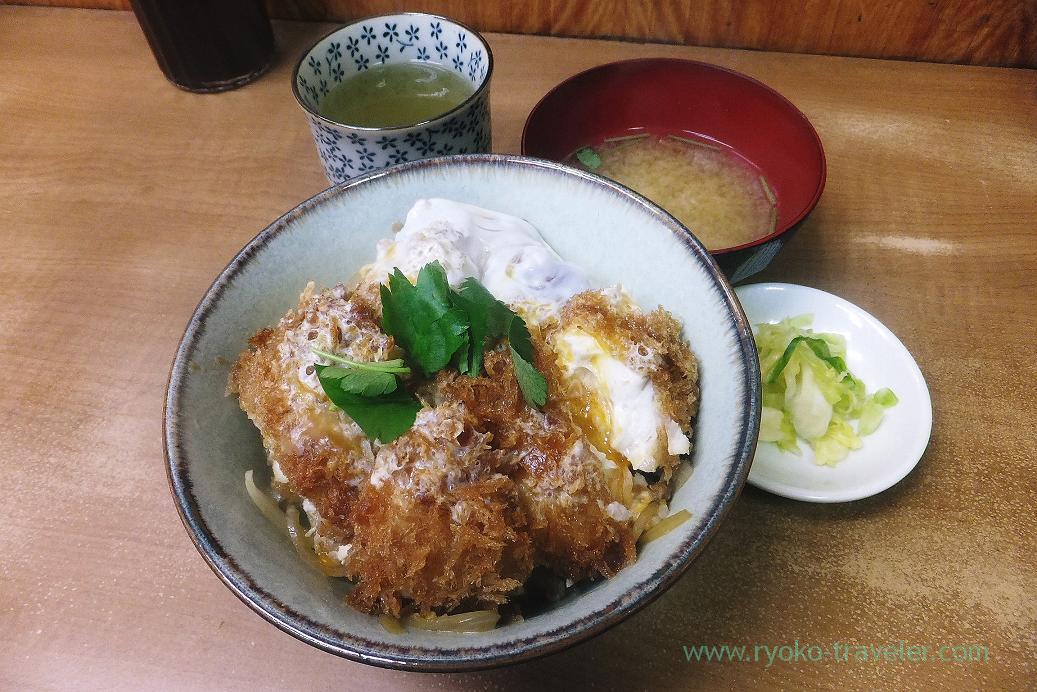 Globefish cutlet bowl, Odayasu (Tsukiji market)