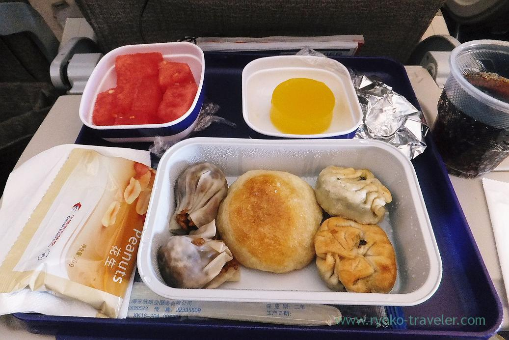 In-flight meal from Shanghai to Narita, Shanghai airport hotel , shanghai(Zhang Jia Jie and Feng Huang of China 2015)