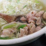 Tsukiji Market : Chicken soup and tamagokake gohan at Torito (鳥藤 築地場内店)