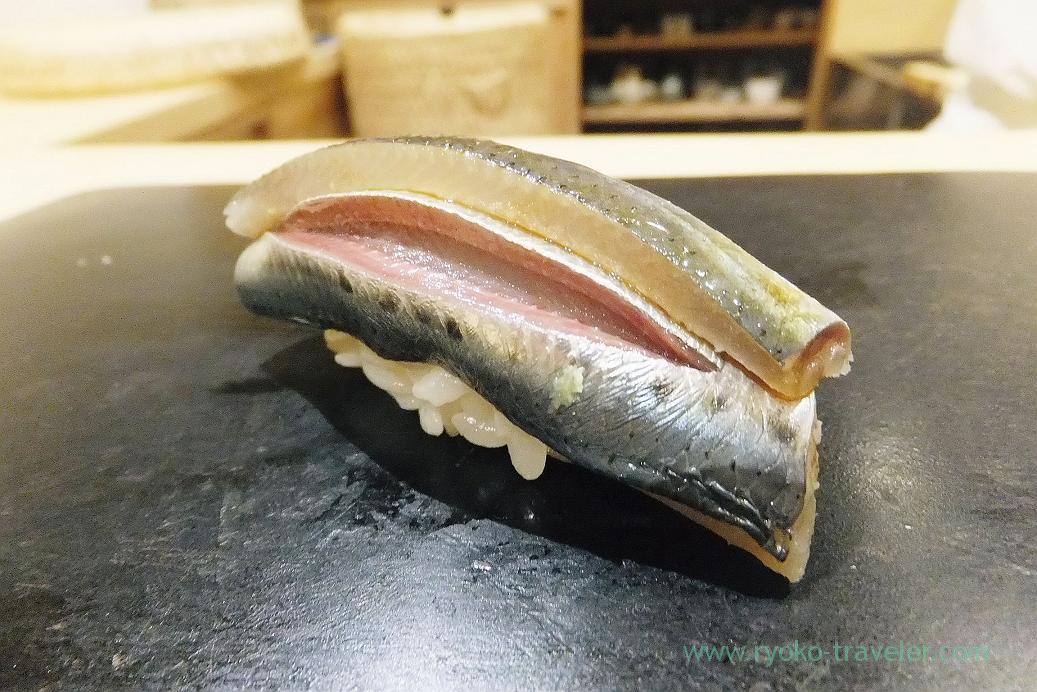 Sardines separately, Sushi Hashimoto (Shintomicho)