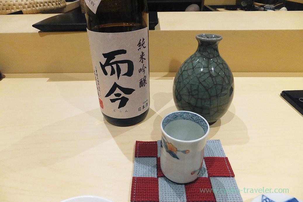 Seond sake was Jikon, Sushi Hashimoto (Shintomicho)