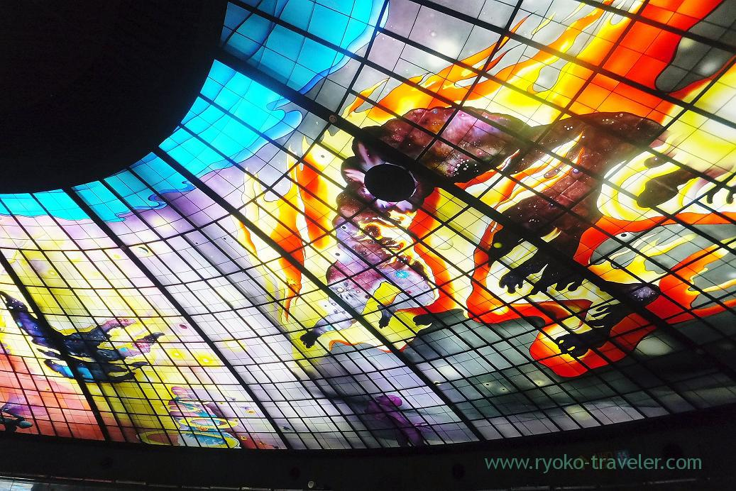 Stained glass1, Formosa Boulevard station, Kaohsiung, Taiwan Kaohsiung 2015 (Narita)