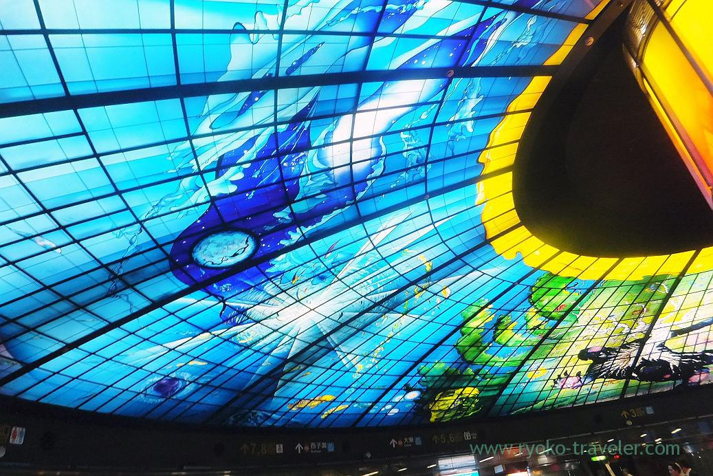 Stained glass2, Formosa Boulevard station, Kaohsiung, Taiwan Kaohsiung 2015 (Narita)