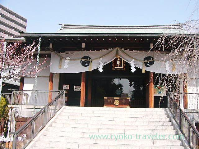 Worship hall, Katori Jinja shrine (Kameido)