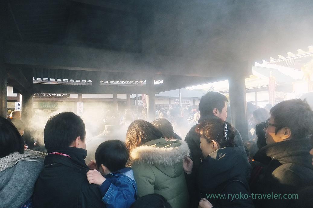 smoke, Naritasan Shinshoji temple (Narita)