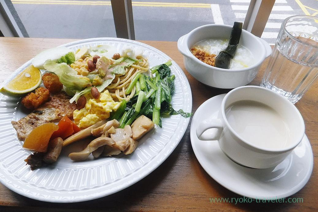 Breakfast, Jia's Inn Liouhe Branch, City council station, Kaohsiung, Taiwan Kaohsiung 2015