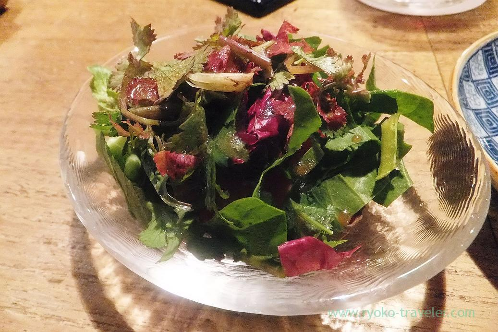 Coriander salad, Yakitori Imai (Sendagi)