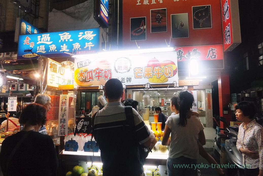 Fruits juice shop1, Liuhe night market, Kaohsiung, Taiwan Kaohsiung 2015