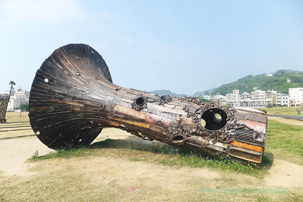 Horn from its back, Pier2 Art center, Yanchengpu, Kaohsiung, Taiwan Kaohsiung 2015
