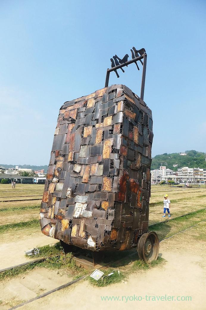 Huge suitcase, Pier2 Art center, Yanchengpu, Kaohsiung, Taiwan Kaohsiung 2015