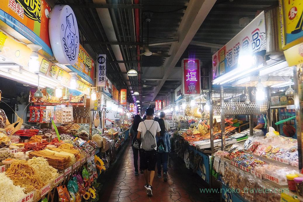Inside the market, Qihou market, Cijin, Kaohsiung, Taiwan Kaohsiung 2015