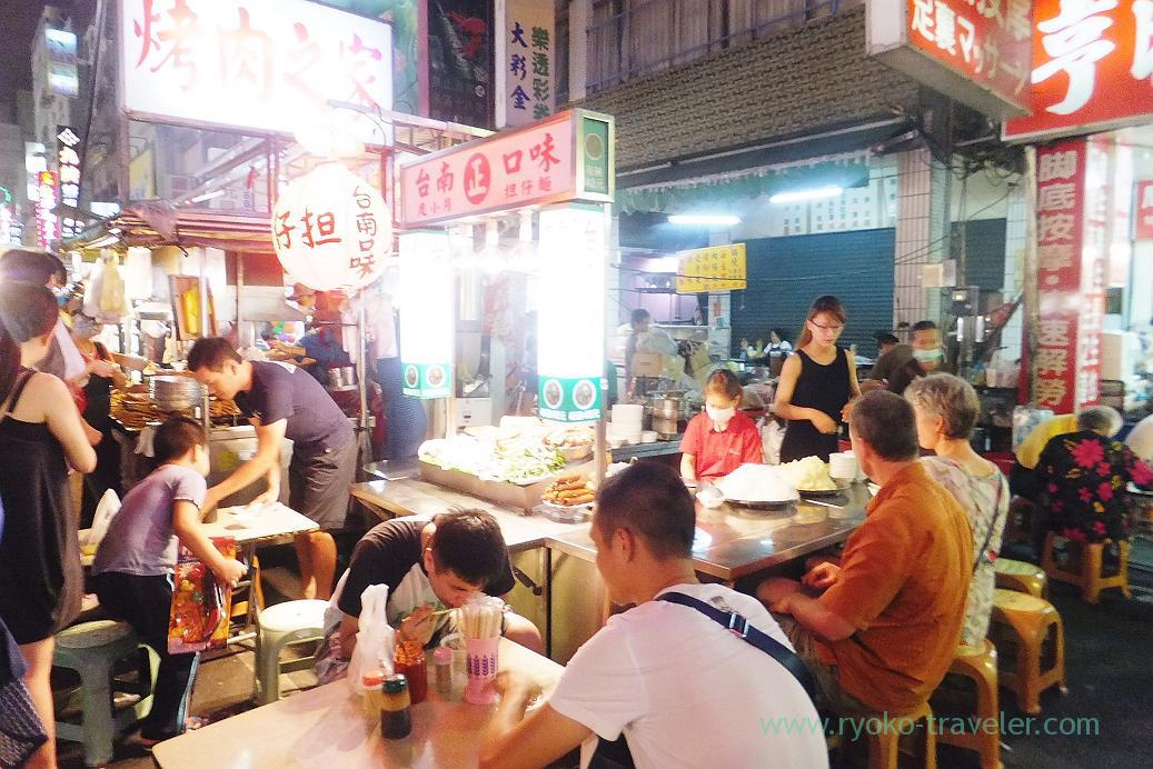 Noodles shop, Liuhe night market, Kaohsiung, Taiwan Kaohsiung 2015