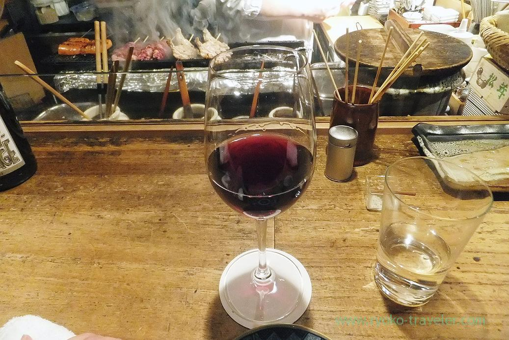 Red wine, Yakitori Imai (Sendagi)