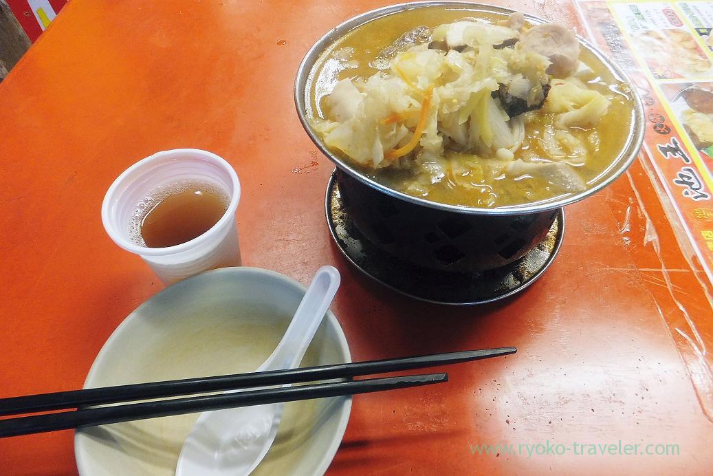 Seafood hotpot and tea, Ruifeng night market, Kaohsiung Arena, Taiwan Kaohsiung 2015