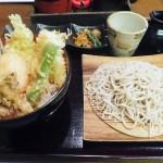 Keisei Okubo : Soba and tempura bowl at Kurumian (くるみ庵)