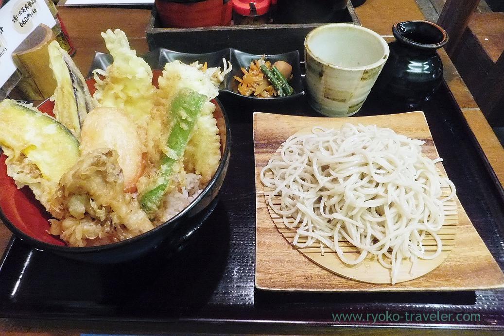 Sillaginidae tempura bowl set, Kurumian (Keisei Okubo)
