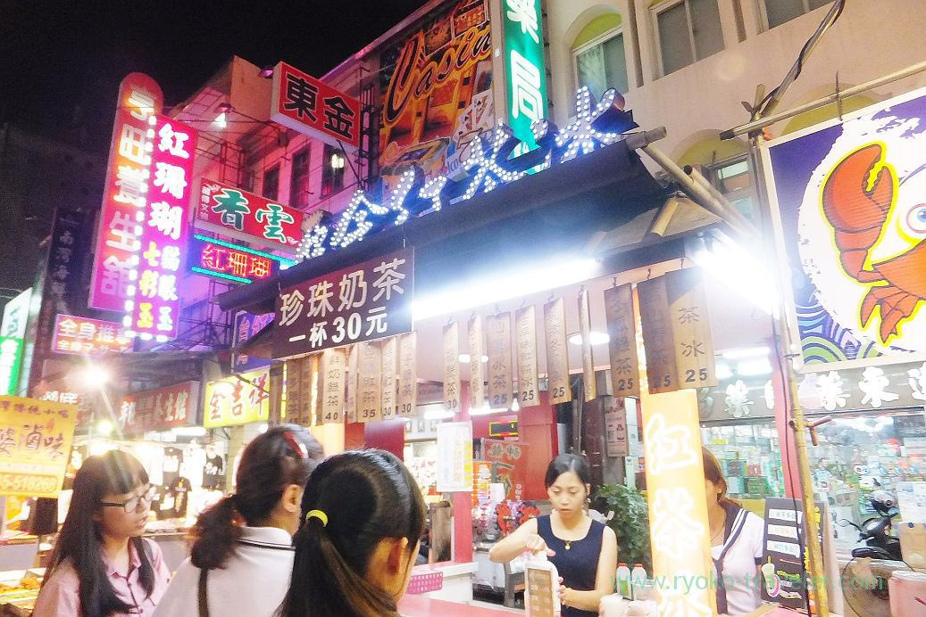 Tea shop, Liuhe night market, Kaohsiung, Taiwan Kaohsiung 2015
